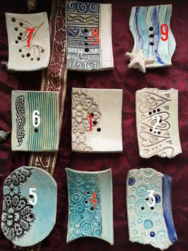 Keramikschale rund , oval oder eckig Wellenmuster