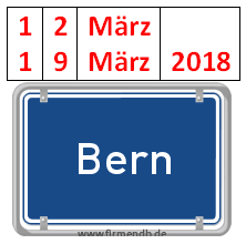 ABEND-PROGRAMM, BERN, 12. + 19. MÄRZ 2018