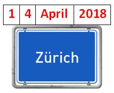 TAGES-PROGRAMM, ZÜRICH, 14. APRIL 2018