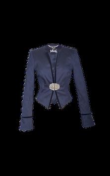 Jacke blau mit Samteinfassung