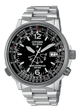 CITIZEN  Radiocontrollato Pilot Acciaio   AS2020-53E