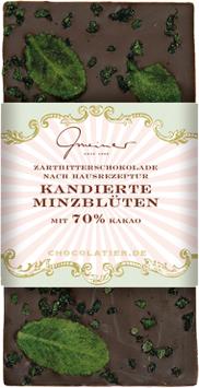 Kandierte Minzblüten 70% Kakao