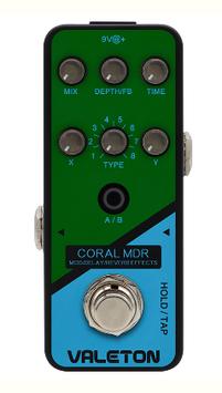 Pedale multieffetto per chitarra  Valeton CORAL MDR