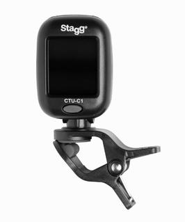 Accordatore a clip cromatico Stagg per tutti gli strumenti a corde