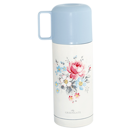GreenGate Thermosflasche (Coffee to go), klein Marie pale grey