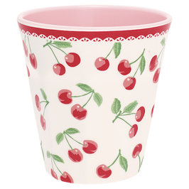 GreenGate Melamin Becher, Cherry white