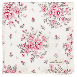 GreenGate Stofftuch, Flora white