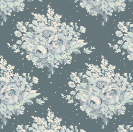 Tilda Fat Quarter Summer Floral blue