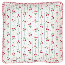 GreenGate Kissen, Cherry white 40x40cm
