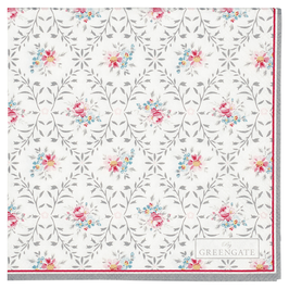 GreenGate Papierservietten, Dasy pale grey