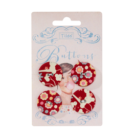 Tilda Knöpfe, Candy Bloom, 4er Set, 25mm Limited Edition