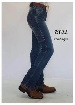 Jeans Western Modello mod.BULL reining  uomo e donna