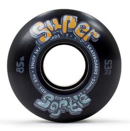 ENUFF SUPER SOFTIE WHEELS Black (set de 4) 53mm