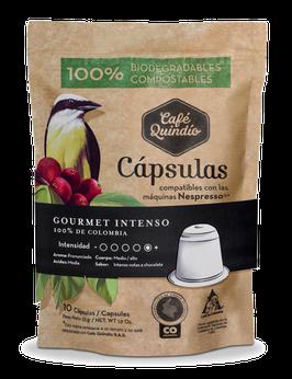 Café Quindío Export Line Gourmet Intenso Nespresso® Coffee Capsules, 10 Pack