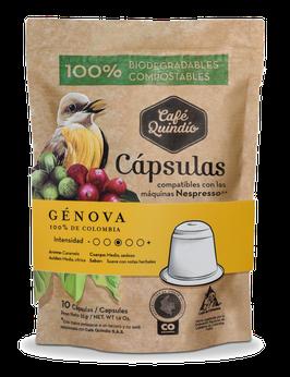 Café Quindío Export Line Génova Nespresso® Coffee Capsules, 10 Pack