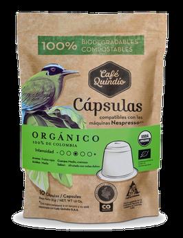 Café Quindío Export Line Organic Nespresso® Coffee Capsules, 10 Pack