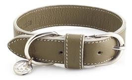 Olive Lederhalsband
