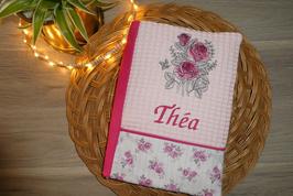 Protège carnet de santé roses