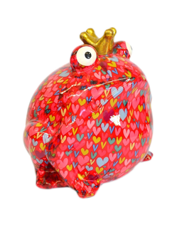 Jumbo-Frosch pink mit Herzen