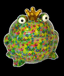 Jumbo-Frosch grün mit Blumen