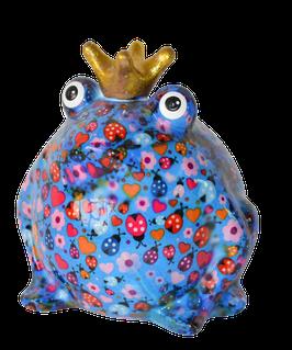 """Frosch """"Basicline""""  blau mit Marienkäfern"""