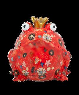 Jumbo-Frosch rot mit Blumen