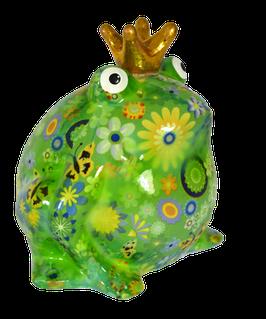 """Frosch """"Wiesenserie"""" mit Blumen und Schmetterlingen"""