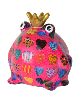 """Frosch """"Basicline /Herzen"""" pink mit Herzen"""