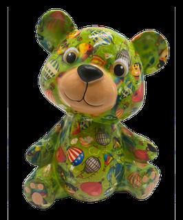 """Bär """"Toto"""" grün mit Ballon      - NEUHEIT -"""