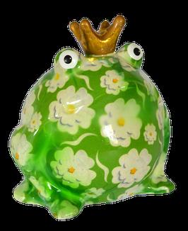 """Frosch """"Wiesenserie"""" mit weißen Blumen"""