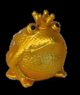 """Frosch """"Gold Edition"""" mit Strasssteinen"""