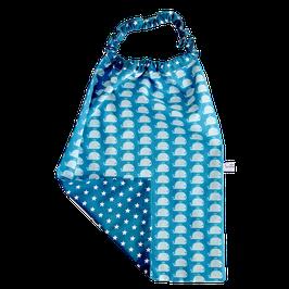 serviette elastiquée baleine