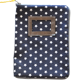 Housse de Carnet de santé étoiles grises