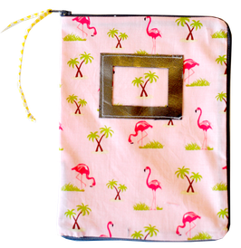 Housse de Carnet de santé flamingo