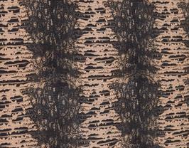 Morceau de cuir de chèvre gris et rose imprimé python
