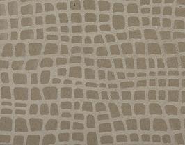Coupon de cuir de vachette beige imprimé iguane