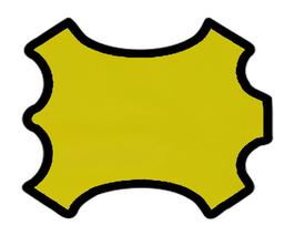 Peau de chèvre nappa jaune citron