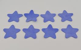 8 étoiles en cuir d'agneau velours lavande