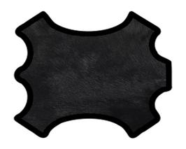 Coupon de cuir de chèvre à poils noir double face
