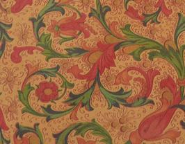 Coupon de cuir de vachette imprimé fleurs