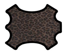 Peau d'agneau velours léopard marron