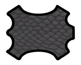 Peau de chèvre noir mat imprimé python