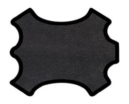 Peau de chèvre noir imprimé python