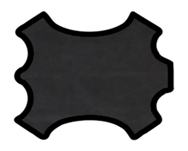 Peau de vachette noire