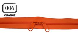 Fermeture éclair YKK orange dos à dos non séparable