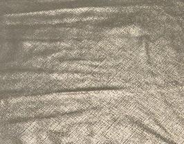 Morceau de cuir de vachette doré imprimé tissé