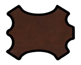Peau d'agneau brun marbré