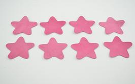 8 étoiles en cuir d'agneau rose clair