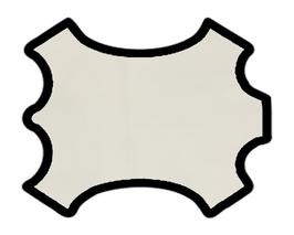 Peau d'agneau velours blanc cassé