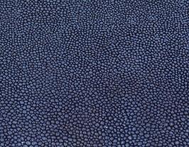 Coupon de cuir de chèvre bleu grains caviar